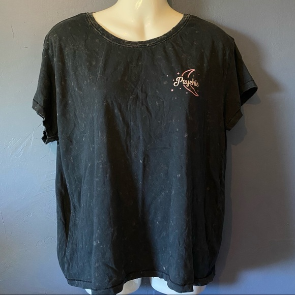 Adam Levine Collection Distressed Gray T-Shirt S